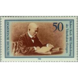 1 عدد تمبر روبرت کخ - جمهوری فدرال آلمان 1982