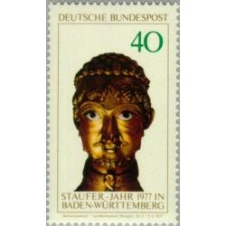 1 عدد تمبر سال Staufen - آلمان 1977