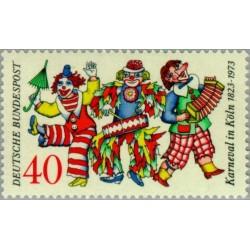 1 عدد تمبر جشنواره شهر کلن - جمهوری فدرال آلمان 1972