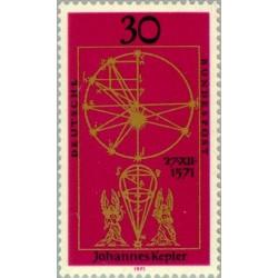 1 عدد تمبر هانس کپلر - جمهوری فدرال آلمان 1971
