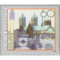 1 عدد تمبر1200 سالگی شهر مانستر - جمهوری فدرال آلمان 1993