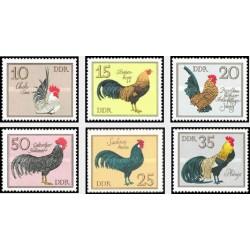 6 عدد تمبر پرندگان - خروسهای آلمانی- جمهوری دموکراتیک آلمان 1979 قیمت 4.7 دلار