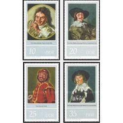 4 عدد تمبر 400مین سال تولد فرانز هالز - تابلو نقاشی - جمهوری دموکراتیک آلمان 1980