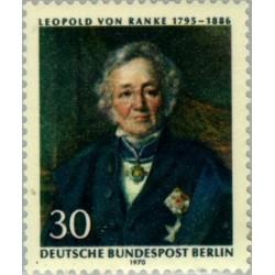 1 عدد تمبر لئوپولد فون رانکه - مورخ - برلین آلمان 1970
