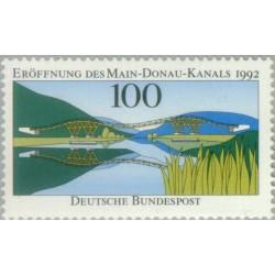 1 عدد تمبر افتتاح کانال اصلی دانوب - جمهوری فدرال آلمان 1992