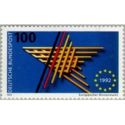 1 عدد تمبر بازار داخلی اتحادیه اروپا - جمهوری فدرال آلمان 1992