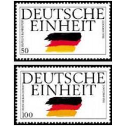 2 عدد تمبر اتحاد مجدد آلمان  - جمهوری فدرال آلمان 1990