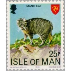 1 عدد تمبر سری پستی  - جزیره من 1978