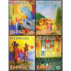 4 عدد تمبر کریستمس - فیلیپین 2013
