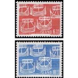 2 عدد تمبر روز نوردیک  - شمال غربی - ایسلند 1969
