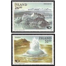 2 عدد تمبر توریسم - ایسلند 1991 قیمت 3.5 دلار