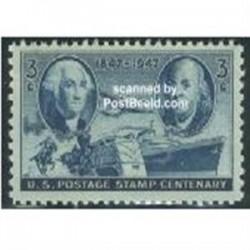 1 عدد تمبر صدمین سال تمبر - آمریکا 1947
