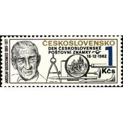 1 عدد تمبر روز تمبر -  چک اسلواکی 1982