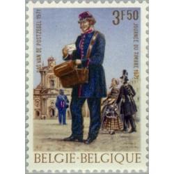 1 عدد تمبر روز تمبر - بلژیک 1971