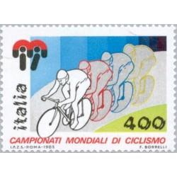 1 عدد تمبر مسابقات جهانی دوچرخه سواری - ایتالیا 1985 قیمت 2.4 دلار