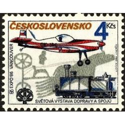 1 عدد تمبر نمایشگاه بین المللی حمل و نقل و ارتباطات ، اکسپو 86 - ونکوور -  چک اسلواکی 1986