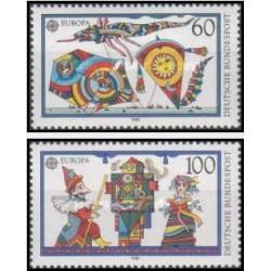 2 عدد تمبر مشترک اروپا - Europa Cept - بازیهای کودکان - جمهوری فدرال آلمان 1989