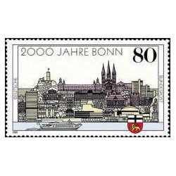 1 عدد تمبر 2000 سالگی شهر بن - جمهوری فدرال آلمان 1989