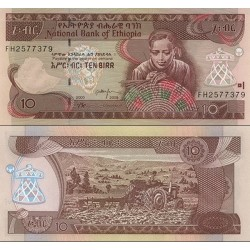 اسکناس 10 بیر - اتیوپی 2008
