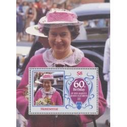 سونیر شیت60مین سالگرد تولد ملکه الیزابت دوم - مونتسرت 1986 قیمت 7 دلار
