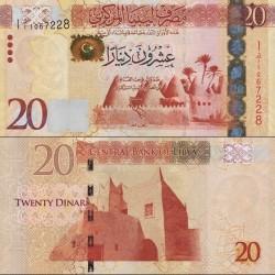 اسکناس 20 دینار - لیبی 2013
