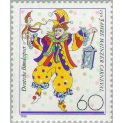 1 عدد تمبر 150مین سال کارناوال ماینز - جمهوری فدرال آلمان 1988