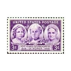 1 عدد تمبر پیشرفت زنان - آمریکا 1948