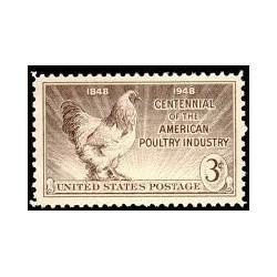 1 عدد تمبر صنعت مرغداری - آمریکا 1948