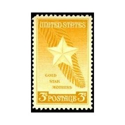 1 عدد تمبر مادران ستاره طلائی - آمریکا 1948