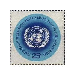 1 عدد تمبر سری پستی  - نیویورک سازمان ملل 1965