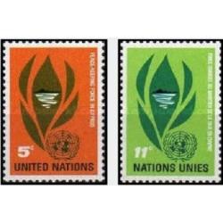 2 عدد تمبر نیروهای حافظ صلح در قبرس  - نیویورک سازمان ملل 1965