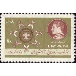 1395 - بلوک تمبر هفته تعاون وسازمان ملی پیشاهنگی ایران 1346