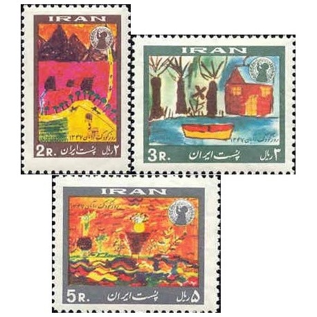 1428 - بلوک تمبر روز کودک (7) 1347