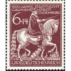 1 عدد تمبر 600 سالگی شهر اولدنبرگ  - رایش آلمان 1945