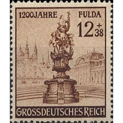 1 عدد تمبر 1200 سالگی فولدا  - رایش آلمان 1944