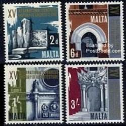 4 عدد تمبر تاریخ معماری - مالت 1967