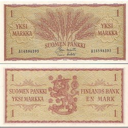 اسکناس  1 مارک - فنلاند 1963