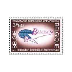 1 عدد تمبر نمایشگاه تمبر بلژیکا 72  - بلژیک 1972