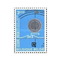 1 عدد تمبر مرکز ارسال و دریافت ماهواره ای - بلژیک 1972