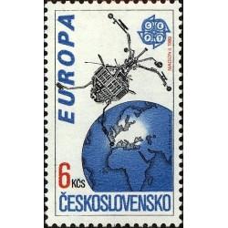1 عدد تمبر مشترک اروپا - Europa cept- اروپا در فضا - چک اسلواکی 1991 قیمت2.9 دلار
