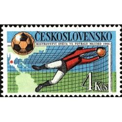 1 عدد تمبر جام جهانی فوتبال مکزیکو - چک اسلواکی 1986