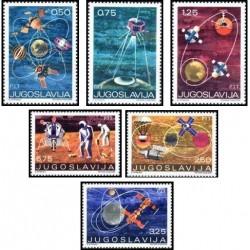 6 عدد تمبر اکتشافات فضا - یوگوسلاوی 1971