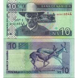 اسکناس 10 دلار - نامیبیا 2001 سریال B و 8 رقمی