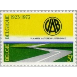 1 عدد تمبر 50مین سال انجمن اتومبیل - بلژیک 1973