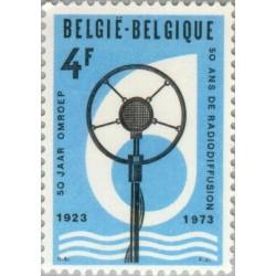 1 عدد تمبر 50مین سال پخش رادیو بلژیک - بلژیک 1973