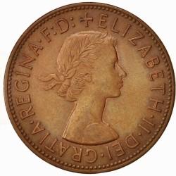 سکه 1 پنی برنزی - انگلیس 1963 غیر بانکی