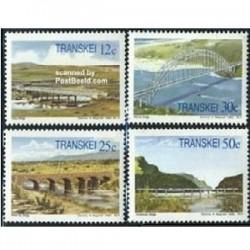 4 عدد تمبر پلها - ترنسکی - آفریقای جنوبی 1985