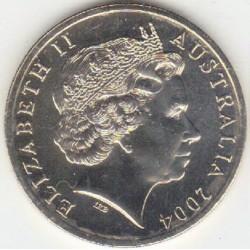 سکه 20 سنت نیکل مس - استرالیا 2004 غیر بانکی