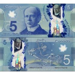 اسکناس پلیمر 5 دلار - کانادا 2013 سفارشی - توضیحات را ببینید