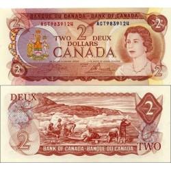 اسکناس 2 دلار - کانادا 1974 سفارشی  - توضیحات را ببینید